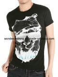 La mode de bonne qualité de coton conçoivent le T-shirt en fonction du client d'homme d'impression