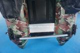 Petit bateau de pêche gonflable militaire de bateau de couleur verte
