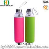 De milieuvriendelijke Modieuze Hoge Fles van het Water van het Glas Borosilicate, de Vrije Fles van het Water 550ml BPA (hdp-0040)