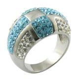 Cristallo Starfish Articoli anello in acciaio Girls '