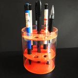 Boîte de présentation acrylique ronde créatrice de crayon lecteur