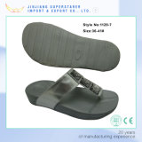 方法ウェッジの女性の双安定回路、PUの甲革が付いているエヴァの高さの増加する靴