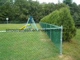Kurbelgehäuse-Belüftung beschichteter heißer eingetauchter galvanisierter temporärer Aufbau-Kettenlink-Zaun