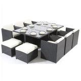 Стул ротанга напольной мебели гостиной патио Hand-Woven и комплект таблицы