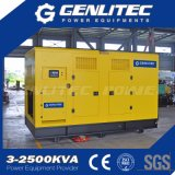 генератор 200kVA/250kVA китайский двигатель 60Hz звукоизоляционный тепловозный