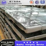 Placas galvanizadas sumergidas calientes acanaladas alta calidad