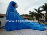 Corrediça de água dupla da pista da onda inflável de Kahuna/corrediça de água inflável da onda