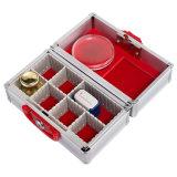 8 compartiments réglables Boîte d'étanchéité moyenne en aluminium pour le stockage des joints