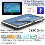 """"""" Navegador del GPS de la en-Rociada de Portablet del coche barato 4.3 con 128MB RDA, 4GB, FM, BT, Tmc, ISDB-T TV, navegación G-4306 del GPS de la correspondencia del GPS"""