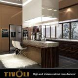 ヨーロッパの方法ラッカーTivo-0039hが付いている安価なブラウンの白い食器棚の食器棚