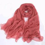 Sarong chiffon solido della spiaggia di colore sottilmente/sciarpa semplificati di modo (HWBPS90)