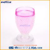 투명한 플라스틱 당 포도주 컵