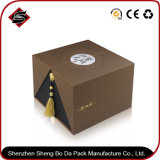 Het gerecycleerde Materiaal Aangepaste Verpakkende Vakje van het Document van het Karton van het Embleem