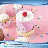 Het leuke Verpakkende Vakje van het Document van het Karton voor de Cake van het Voedsel (xc-fbk-032)