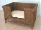 Casella esterna dell'animale domestico della mobilia del rattan