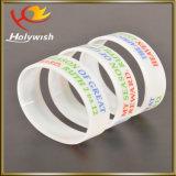 Logotipo feito sob encomenda relativo à promoção Wristband impresso do elástico do bracelete do silicone