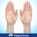 La polvere dei guanti a gettare del vinile e la polvere liberano, commestibile