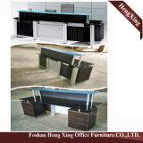 (HX-GL205) Muebles de oficinas modernos del vector contrario superior de cristal de la pierna del metal