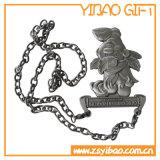 金属の鎖(YB-MD-08)が付いているカスタムロゴのエナメルの金メダル