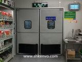 Porte d'oscillation glacée de circulation de choc pour le supermarché