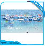 Erwachsener aufblasbarer sich hin- und herbewegender Insel-/Floating-Klecks-Aqua-Park für Verkauf