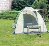 Barraca encantadora ao ar livre de acampamento Rainproof automática do relevo da pessoa do dobro 2-4