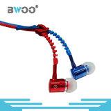 The Hot Selling Fashion Zipper fone de ouvido para telefone inteligente