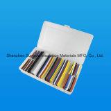 Zusammenstellungs-Verhältnis-2:1 Wärmeshrink-Schlauchgefäß-Sleeving Verpackungs-Installationssatz mit Kasten-buntem niedrigstem Preis