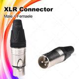XLRの可聴周波アダプター3 Pinの男女のマイクロフォンのケーブルコネクタ