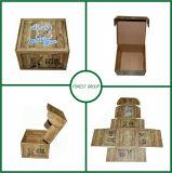 Caixa de embalagem ondulada personalizada com impressão de textura de madeira