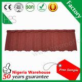 8 anni di fabbricazione di Guangzhou del materiale da costruzione della pietra del metallo di mattonelle di tetto rivestite