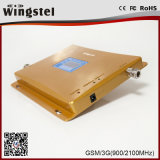 Mobiele Dubbele Band 900 van de Repeater van het Signaal 2g 3G 2100MHz GSM WCDMA de Mobiele Spanningsverhoger van het Signaal van de Telefoon
