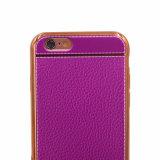 Caixa contínua macia de galvanização do telefone de pilha dos Striae TPU para acessórios do iPhone 7/7 de Plus/P8 Lite (XSDD-066)