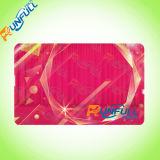 Tarjeta del regalo del PVC Cr80 del plástico