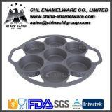 Molde reusável de Bakeware do divisor do ferro de molde da forma do coração para queques