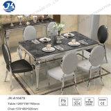 가구의 정연한 직사각형 대리석 식탁과 의자 세트