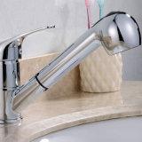 Torneira de água do cromo do Faucet da bacia do dissipador de cozinha