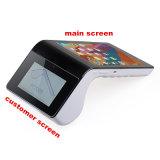 Terminal esperto Android Handheld da posição da tabuleta com o leitor PT7003 do leitor MIFARE NFC do código de barras da impressora