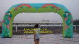 Archway gonfiabile di figura rotonda, arco gonfiabile bianco per fare pubblicità