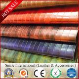 Искусственная кожа печатание PVC двойная для мешков/кожи синтетики циновки Talbe