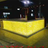 High Glossy Acrylic Illuminated Bar for Sale LED Commercial Bar Counters Design