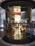 Edelstahl-Blatt, das dekorativen Farben-Höhenruder-Dekor ätzt