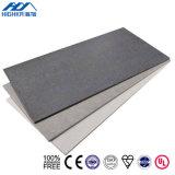 Hojas decorativas del cemento de la celulosa de los paneles de la pared prefabricada de los hogares