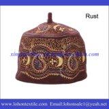 Материал войлока шерстей шлема Африки, мусульманский шлем вышивки, новый шлем празднества типа
