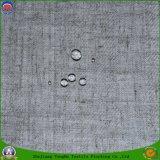 Tissu tissé par arrêt total imperméable à l'eau à la maison de rideau en guichet de polyester de franc de textile