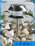 装飾のための熱い販売のステンレス鋼の太陽動力を与えられた庭ライト
