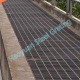 Reja galvanizada estándar del acero de la prolongación del andén del drenaje del camino