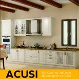 De in het groot Amerikaanse Lineaire Stevige Houten Keukenkasten van de Stijl (ACS2-W32)