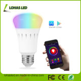 Lampadina astuta dell'UL Dimmable E27 9W RGB WiFi LED