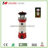 راتينج منارة شمسيّ مع يدور مصباح فناء فنية مع حمراء وبيضاء [ستريبد] لون